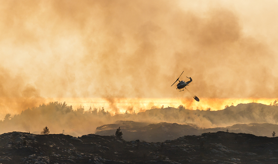 Fire Helicopter Sund Arne Bergo