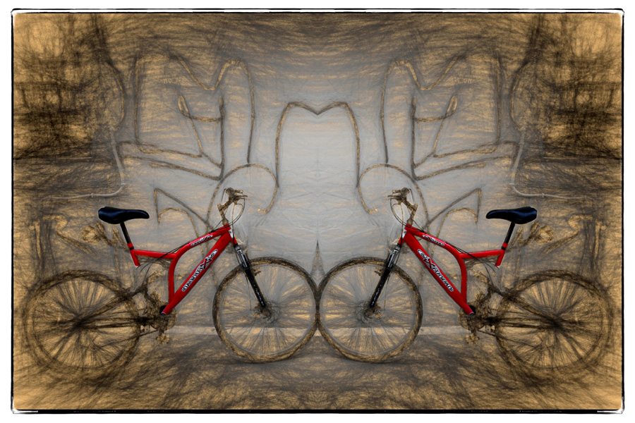 Two Red Bikes