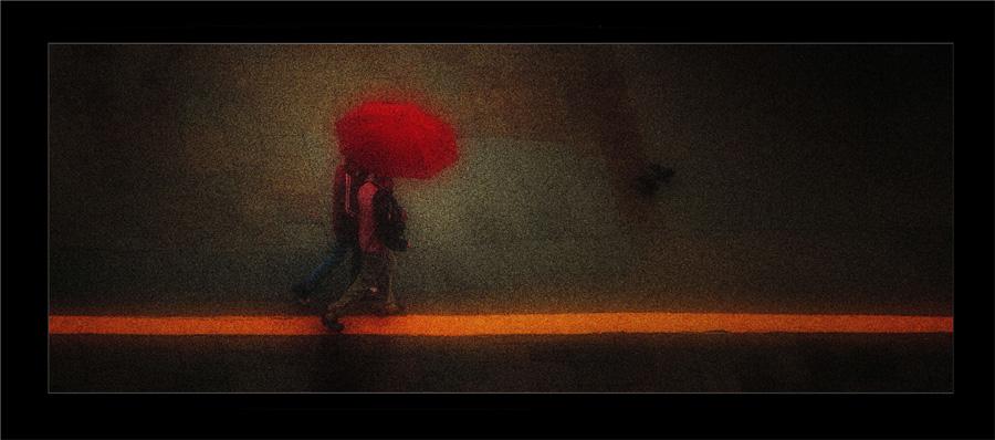 Umbrella in Mist No 2