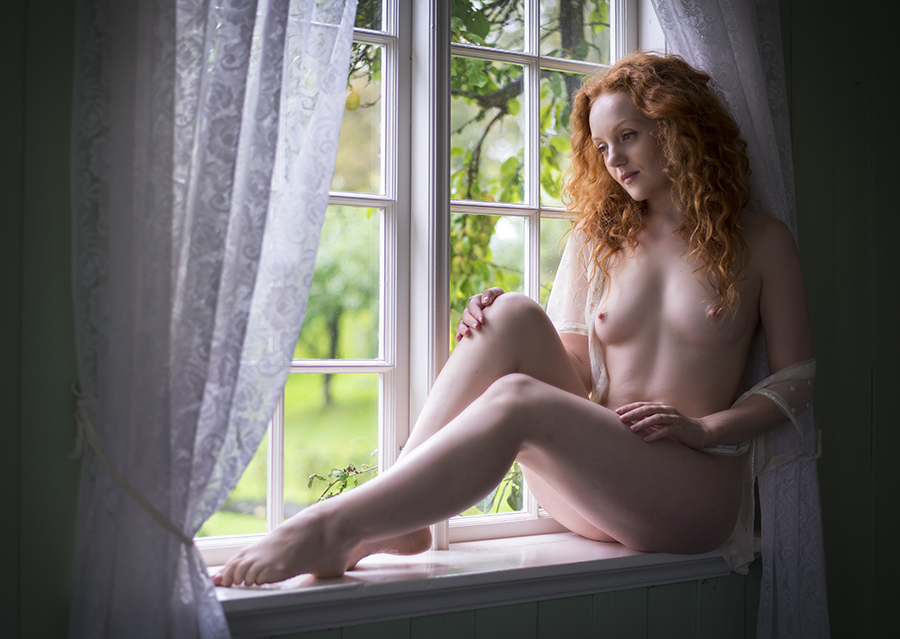 Ivory Flame in the window